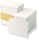 100% Genuine Poly Vinyl Chloride (PVC) Cards - Polished Surface Front / Polished Surface Rear - Ready for use in your card printer. These cards are commonly referred to as Video or Ultra grade cards.